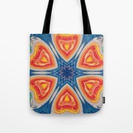 Amber-Topaz Hearts Tote Bag