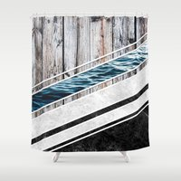 Striped Materials of Nature I Shower Curtain