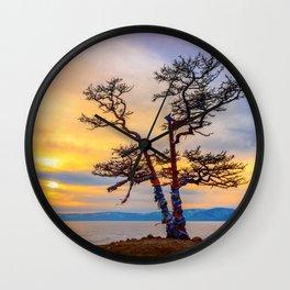 Baikal pine Wall Clock