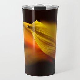 flower orange Travel Mug