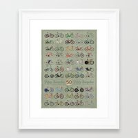 bicycle Framed Art Prints featuring Bicycle by Wyatt Design