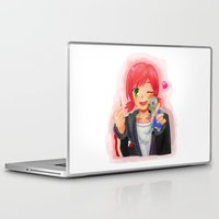 garrus Laptop & iPad Skins featuring Mass Effect - Shepard with Garrus Doll by Choco-Minto