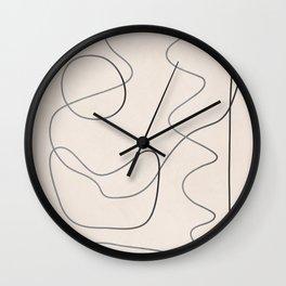 Abstract Line III Wall Clock