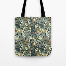 Lucha Pattern(blue&orange) Tote Bag