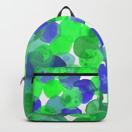 Watercolour Circles- Green and Blue Palette Backpack