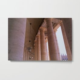 The Colonnades of St Peter's Square Metal Print