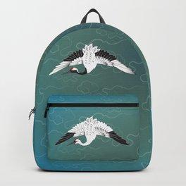 Three White Cranes Backpack