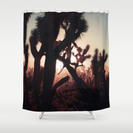 Joshua Trees at Sunset Shower Curtain