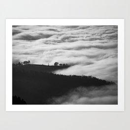Hills of Mystery Art Print