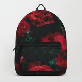 Geometric Red Roses Backpack