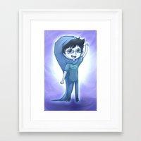 homestuck Framed Art Prints featuring John Egbert by Kurfluffle