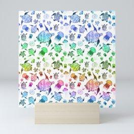 Ocean Life - Rainbow Colors Mini Art Print