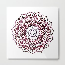 Eggplant Mandala Metal Print