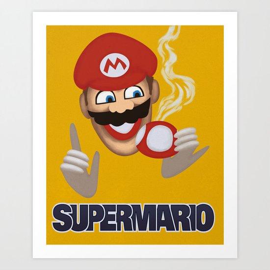 MORVAN SPIRIT - Super Mario Art Print