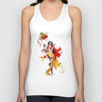 actor Tank Tops featuring Cracked Actor by Ashleigh Hungerford