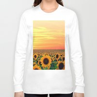 sunflower Long Sleeve T-shirts featuring Sunflower by Don't Be A Dick