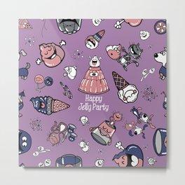 Jelly Party (Purple) Metal Print