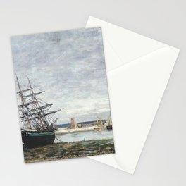 Eugne Boudin - Camaret, maree basse dans la rade Stationery Cards