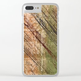 Abstract striped painting Clear iPhone Case