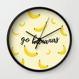 Go Bananas Wall Clock