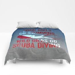 Wild girls go scuba diving Comforters