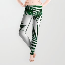 Tropical Palm Leaf Leggings