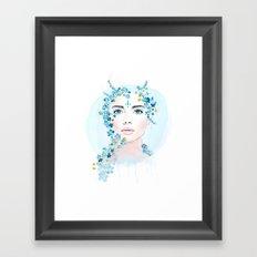why so blue  Framed Art Print