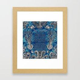 The Kraken (Blue) Framed Art Print