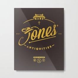 """Jones' Rare Antiquities"" - gold version Metal Print"