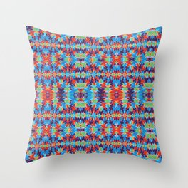 Cut Out Shapes And Tiny Flowers Throw Pillow