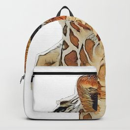 Giraffe High Face Giraffa After Party Funny Posture Backpack