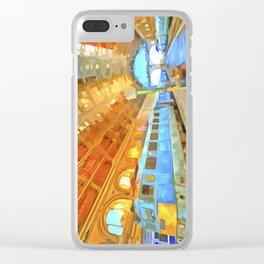 Pop Art Railway Station Clear iPhone Case