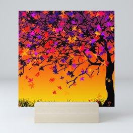 The Scent Of Halloween Autumn Tree Mini Art Print