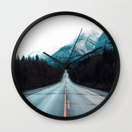 Highway Mountains Wall Clock