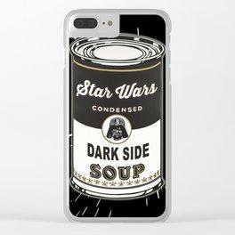 Black Soup Clear iPhone Case