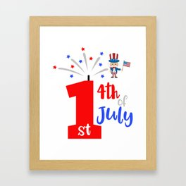 First 4th of July Framed Art Print