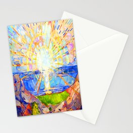 Edvard Munch The Sun Stationery Cards