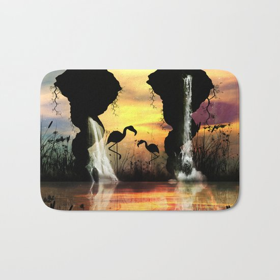 Flamingo Bath Mat