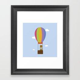 Llama in Air Balloon Framed Art Print