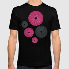 Sea's Design - Urchin Skeleton (Pink & Black) Black Mens Fitted Tee MEDIUM