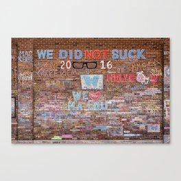 We did not suck   Noriko Aizawa Buckles Canvas Print