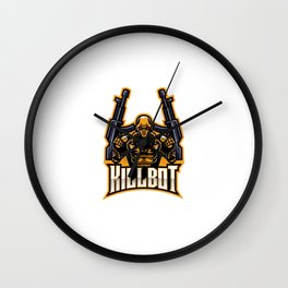 Killbot Logo Wall Clock