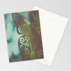 Bokeh With Butterfly Wings Stationery Cards