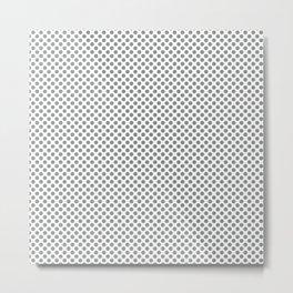 Neutral Gray Polka Dots Metal Print