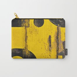 black numbers on yellow background Carry-All Pouch