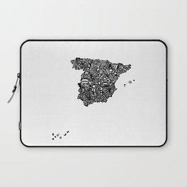 Typographic Spain map art print Laptop Sleeve