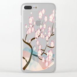 Cherry Blossom Reverie Clear iPhone Case