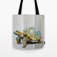 tortoise Tote Bags featuring Tortoise by aceta