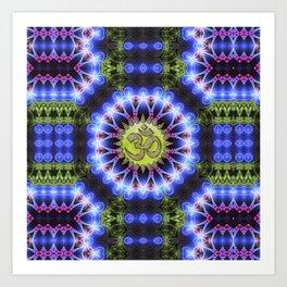 Om Shanti Fractal Geometry series #1 Art Print