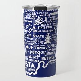 Maine Map  Travel Mug
